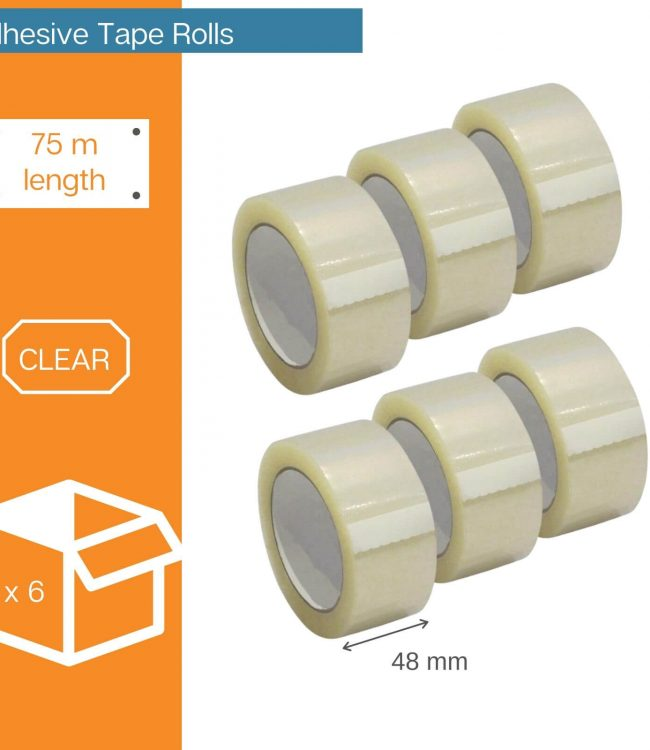 6 Adhesive Tape Rolls - Protection Experts Australia