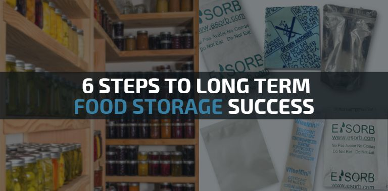 Storing food long term successfully